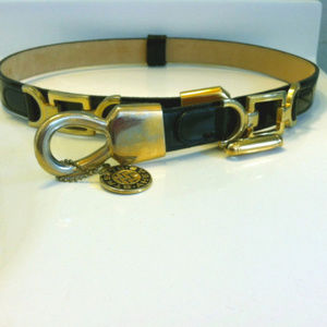 Streets Ahead Belt Black Leather Equestrian Med